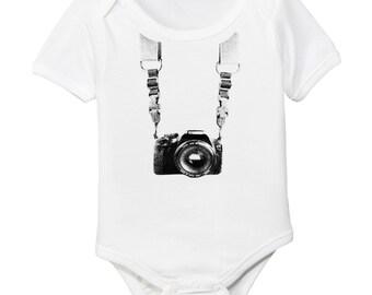 Photographer Organic Cotton Baby Bodysuit