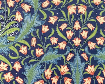 Elegant Beautiful Blue TULIPS! William Morris Garden/Flower Illustration. Digital Vintage Illustration DOWNLOAD. Perfect For Greeting Cards.