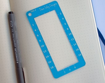 5mm Rectangle Tool, Bullet Journal Stencil - 502