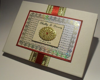 Asian style wedding guest book