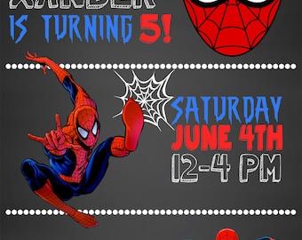 Spiderman Invitation Spiderman Spiderman Party Spiderman
