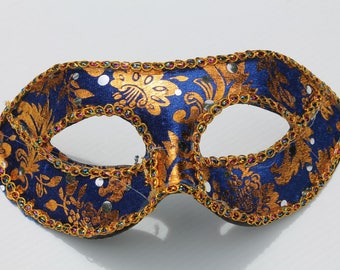 Blue and Gold Baroque Mask