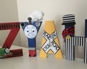 Thomas the Train, Train themed letters