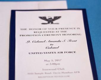 Army Promotion Invitation