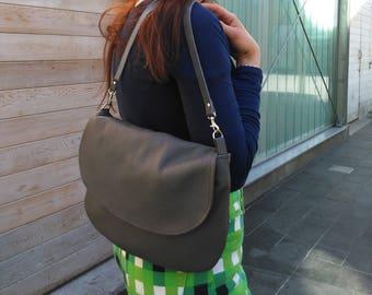 Dinky Satchel cross body leather handbag made in England hobo