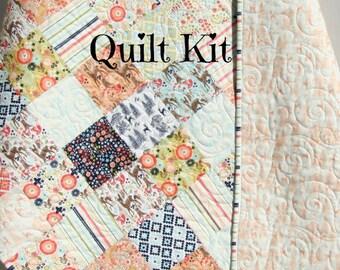 Woodland quilt girl etsy last four girl quilt kit woodland spring riley blake deer aztec coral navy solutioingenieria Images
