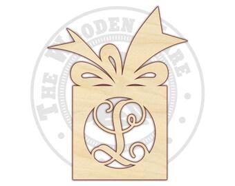 Gift Monogram - Vine Monogram - Christmas Monogram - 210110 - Unfinished wood