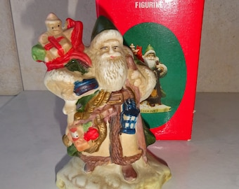 Vintage Santas of the Nations Germany Santa Porcelain Figurine Hand Painted The Wanderer