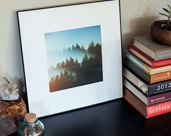 Framed Print Psychedelic Oregon PNW Trees Photography