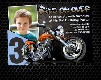 Chopper invite etsy motorcycle printable birthday invitation motorcycle birthday party invitation chopper orange motorcycle filmwisefo Image collections