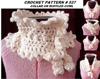 SCARF CROCHET PATTERN, wear as a collar, scarf, or cowl, women, number 527, instant download