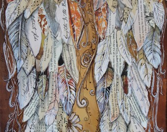Angel Wings art painting print angelwings print  religious gift decor  Art Print 11x14
