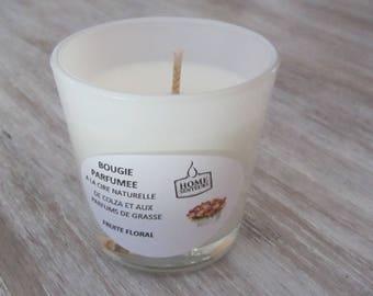 """Bougie Artisanale Parfumée verre opaque """"Fruité floral"""""""