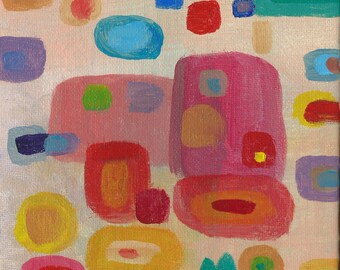 Original Abstract Acrylic Painting: We are cute Couples