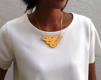 Gold Geometric Statement Necklace
