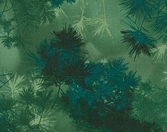Robert Kaufman - Enchanted Pines by Mckenna Ryan - Pine Branches - Pine - Fabric by the Yard AYC15474274