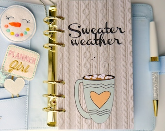 Sweater Weather Personal, A5, A6, B6 and Pocket Size Planner Dashboards