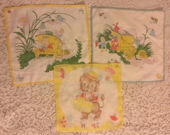 Vintage Children's Handkerchiefs