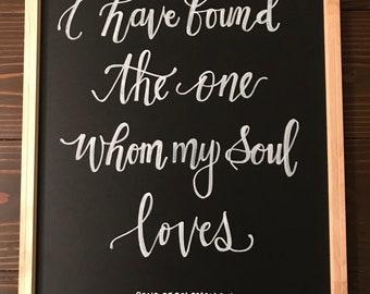 Song of Solomon Chalkboard