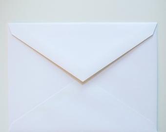 100 A6 white envelopes