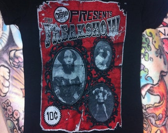 Ladies Freakshow Shirt Horror Shirt Sideshow Shirt Freak Show Shirt Beard Shirt Freak