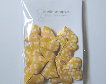 Cake topper Garland mini deco cake origami yellow heart