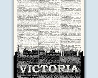Victoria Skyline, Victoria Canada Poster, Victoria Decor, Victoria Print, Victoria Wall Art, Victoria  Gift, Victoria Wall Decor