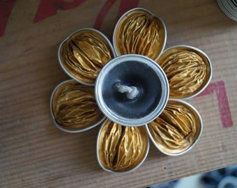 Golden Nespresso candlestick