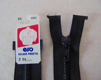Zipper, molded, Dark Navy (Z54 590)