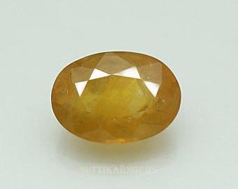 5.10 ct yellow sapphire oval cut 8.3 x 11.6 x 5.8 mm loose gemstone