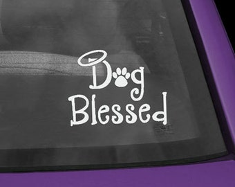Dog Blessed Vinyl Sticker