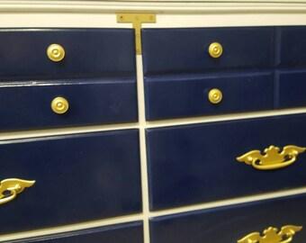 Campaign Inspired Vintage Dresser