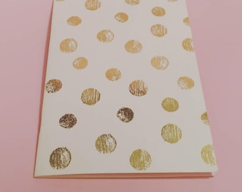 Notebook with golden dots A5
