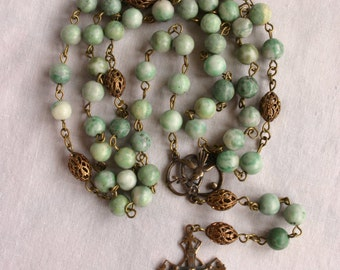 Catholic Rosary: Jade Beads