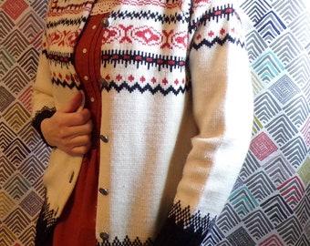NORWEGIAN WOOL SWEATER dirdalstrikk woolen vintage 42 M L