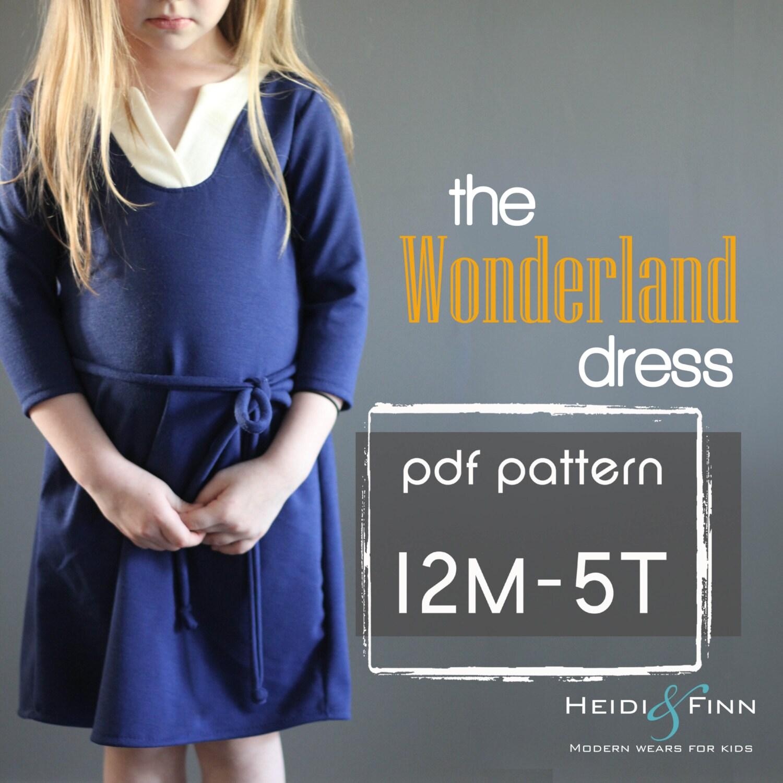 Wunderland Kleid PDF Muster und Tutorial 12m 5 t einfach