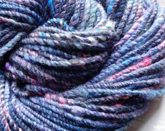 Jennifleur handspun merino and wensleydale yarn, 105 yards