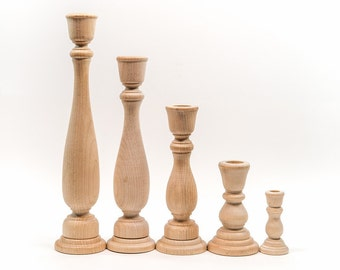 Candle Stick Holders | Wood Candle Sticks|  You choose size| Candle Holder| Candle Stick| Wood Candle Stick| Wood| Wood Candle Holder
