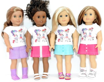 18 Inch Doll Clothes, AG Doll Clothes, Trendy 18 Inch Doll Clothes, DESIGN Your Own Mini Skirt for American Girl Dolls