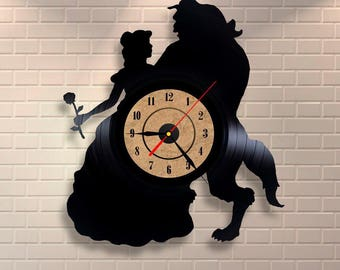 Beauty And The Beast Xmas Clock Gift For Teenage Girls, Teen Boy, Hairdresser Idea, My Wife, Women that Have Everything, Wives, Secretary