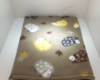 Brown Hedgehog Reversible Fleece Snuggle Sack-Bonding Bag-Pouch for Hedgehog/ Guinea Pig/ Rat/ Small Animal