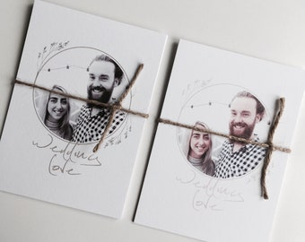 Photograph Wedding Invitation Minimal Photo Invitation Personalised