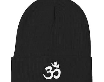 Om Yoga Beanie Beanie Aum Meditation Beanie Minimalist Beanie