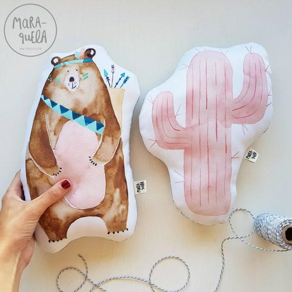 Cojín Oso y Tipi / Bear and Teepee Cushions
