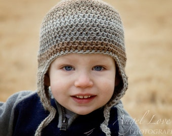 Ear flap hat cap for boys and girls You Choose Size and Color