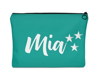 Personalized name pouch, custom name pouch, cosmetic bag, pencil case, personalized gift Active