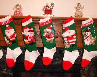 Knitted Christmas Stocking Pattern Collection