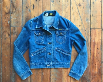 1970's Women's XX-Small 14 oz Denim Jacket by Wrangler