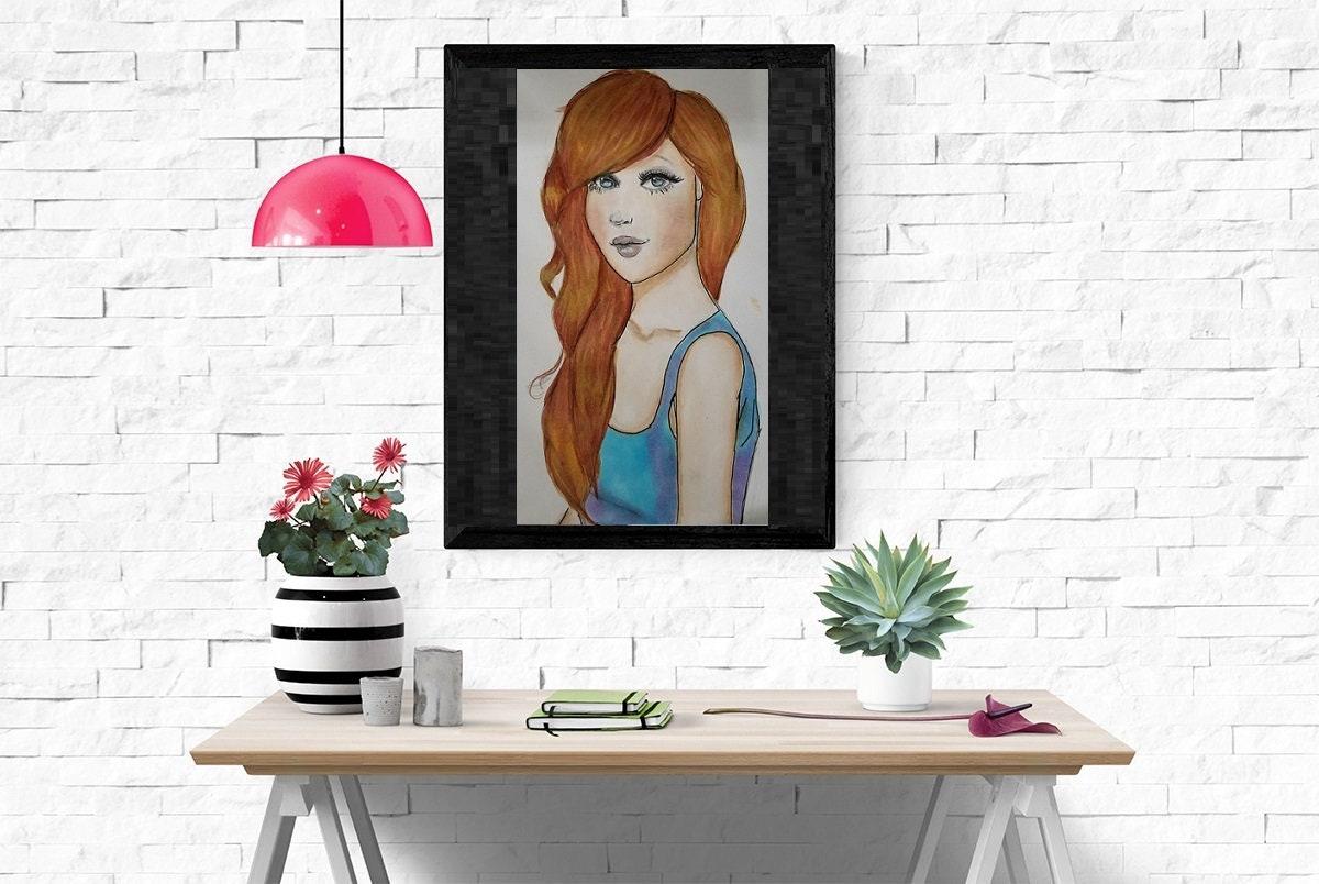 Paper Print Illustration,fashion Poster,fashion Wall Art,chic Wall Decor,Art  For Women