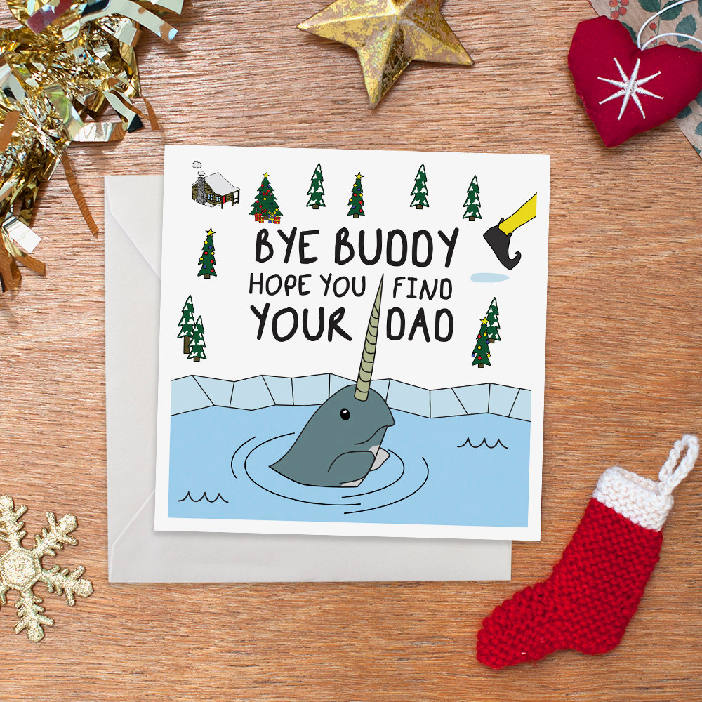 Bye buddy hope you find your dad christmas card funny zoom m4hsunfo